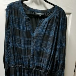 Long sleeve plaid dress